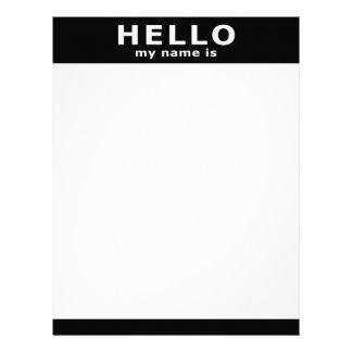 hola mi nombre es… membretes personalizados