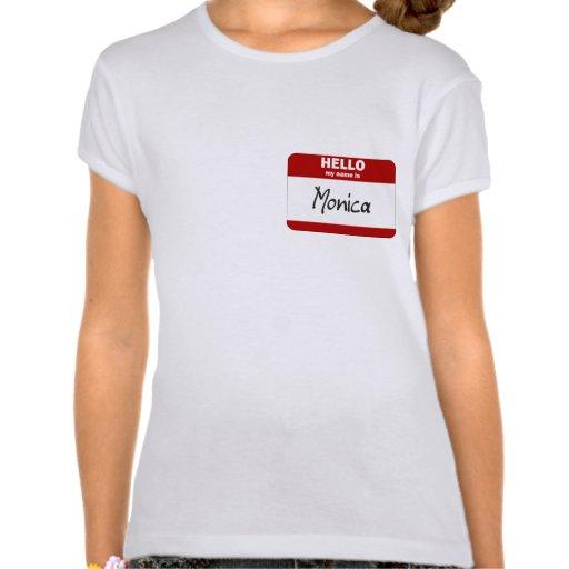 Hola mi nombre es Mónica (roja) Camisetas