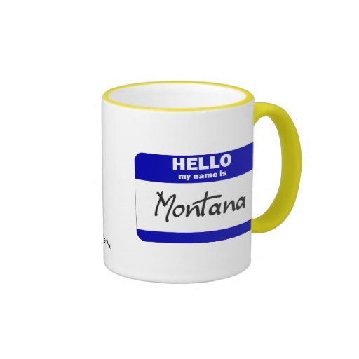 Hola mi nombre es Montana (azul) Taza A Dos Colores