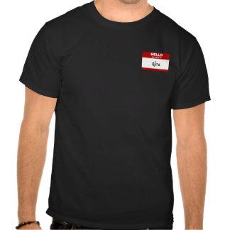 Hola mi nombre es Noe (rojo) Camisetas