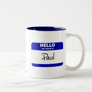 Hola mi nombre es Paul (azul) Taza De Café