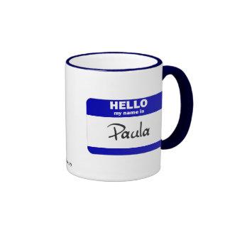 Hola mi nombre es Paula (azul) Tazas