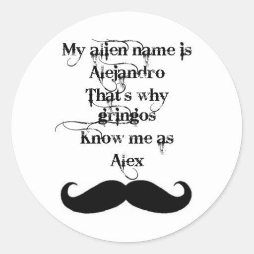 Hola, mi nombre es… etiquetas redondas