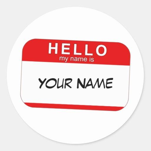Hola mi nombre es pegatina