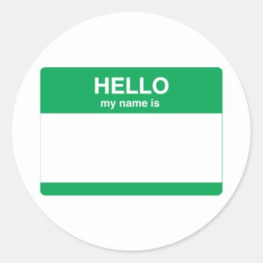 Hola, mi nombre es etiqueta redonda