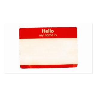 Hola mi nombre es…. Personalizable de la tarjeta d Tarjetas De Visita