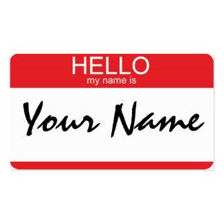 Hola mi nombre es plantilla de tarjeta de negocio