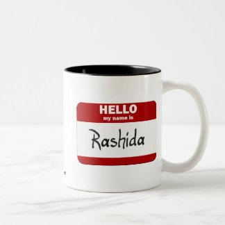 Hola mi nombre es Rashida (rojo) Tazas De Café