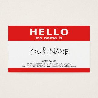 hola mi nombre es: rojo tarjetas de visita