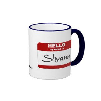 Hola mi nombre es Shyann (rojo) Taza De Dos Colores