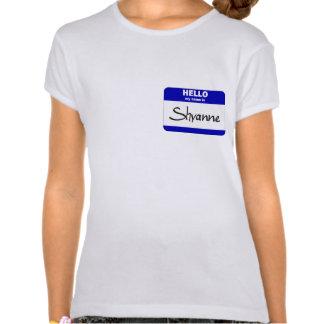 Hola mi nombre es Shyanne (azul) Camiseta