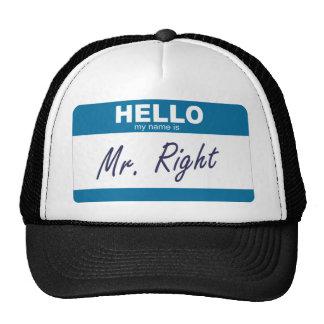 hola mi nombre es Sr. la derecha Gorro De Camionero