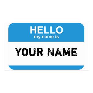 Hola mi nombre es, su nombre tarjetas de visita