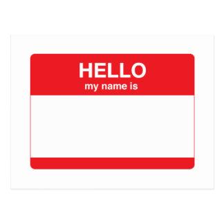 Hola, mi nombre es (su texto) postales