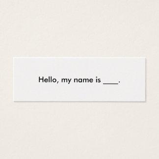 Hola, mi nombre es tarjeta de visita