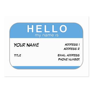 Hola mi nombre es tarjeta del perfil tarjetas de visita grandes