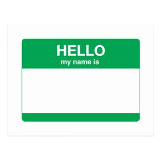 Hola, mi nombre es tarjeta postal