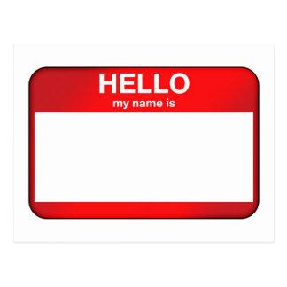 Hola mi nombre es… tarjetas postales