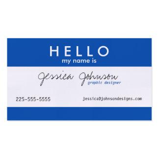 Hola mi nombre es tarjetas de visita