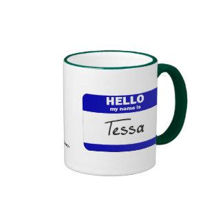 Hola mi nombre es Tessa azul Tazas