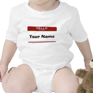 Hola mi nombre es traje de bebé