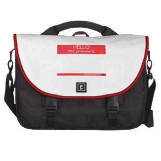 Hola mi pronombre es… bolsa para ordenador
