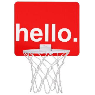 HOLA mini aro de baloncesto de la tipografía Canasta Mini