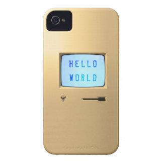 Hola mundo de computadora personal funda para iPhone 4