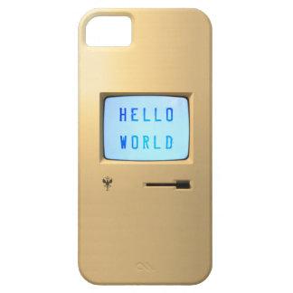 Hola mundo de computadora personal funda para iPhone SE/5/5s