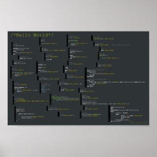Hola mundo en 34 idiomas posters