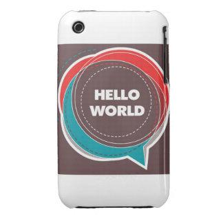hola mundo funda para iPhone 3
