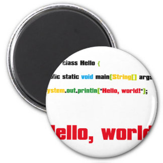 ¡Hola, mundo! Imán Redondo 5 Cm