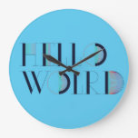 Hola mundo relojes de pared