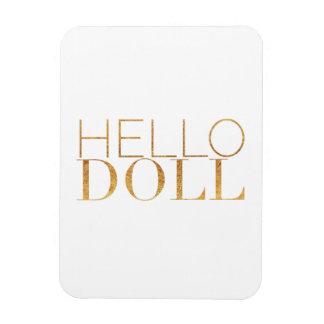 Hola muñeca imanes de vinilo