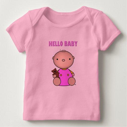 Hola niña playera de bebé