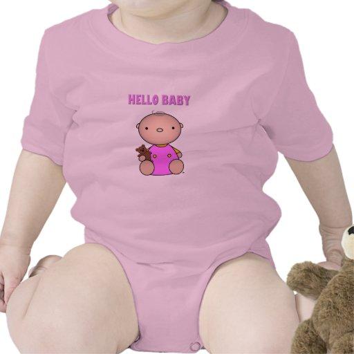 Hola niña trajes de bebé