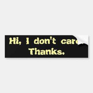 Hola, no cuido. Gracias Pegatina Para Auto