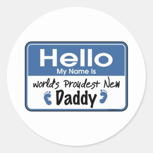Hola nuevo pegatina del papá