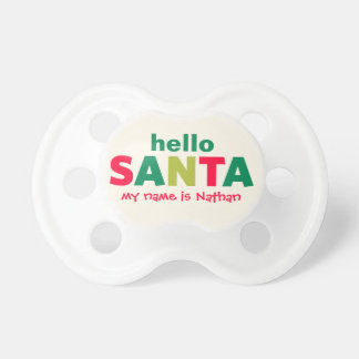 Hola pacificador de encargo del bebé de Papá Noel Chupetes Para Bebes