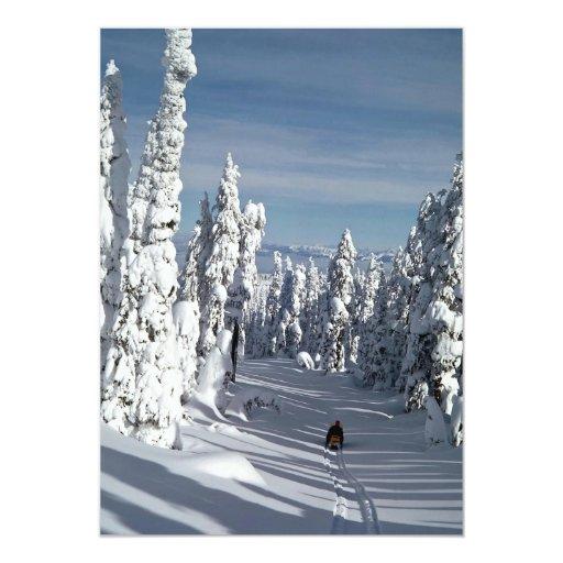 Hola-País, Washington central del bosque Invitación 12,7 X 17,8 Cm