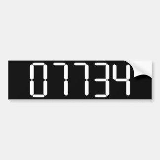 """""""HOLA"""" - palabra al revés de la calculadora - STI  Pegatina Para Auto"""