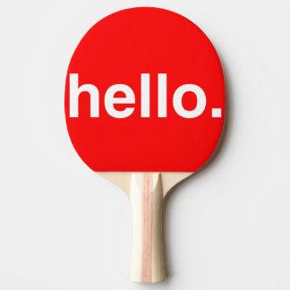 HOLA paleta del ping-pong de la tipografía Pala De Ping Pong