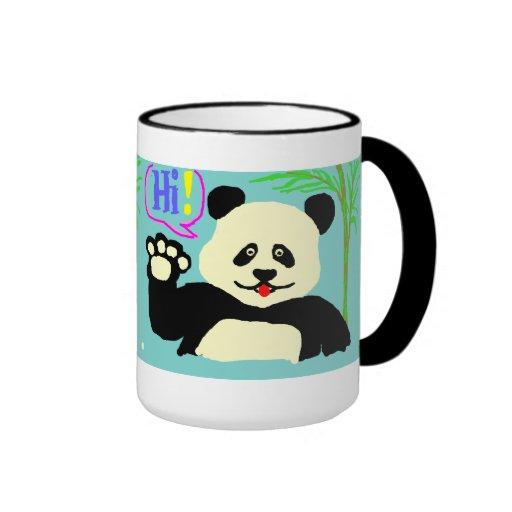 ¡Hola panda! Taza De Café