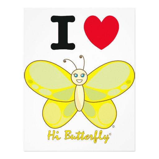 Hola papel con membrete de Butterfly® Plantilla De Membrete