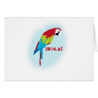 hola parrot card