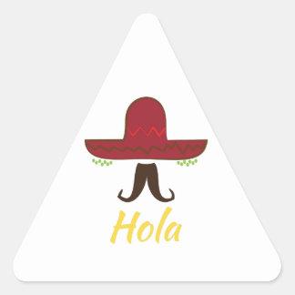 Hola Pegatina Triangular