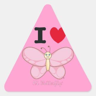 Hola pegatina de Butterfly®