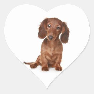 Hola pegatina etiqueta del perro de perrito del Da