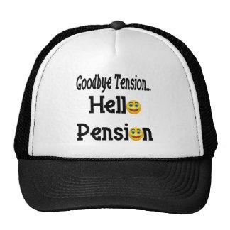 Hola pensión de retiro gorros bordados