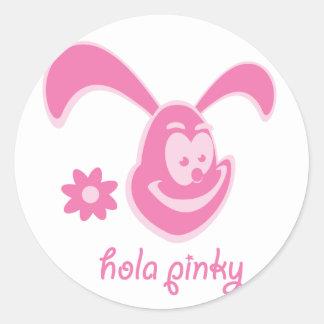 Hola Pinky Classic Round Sticker